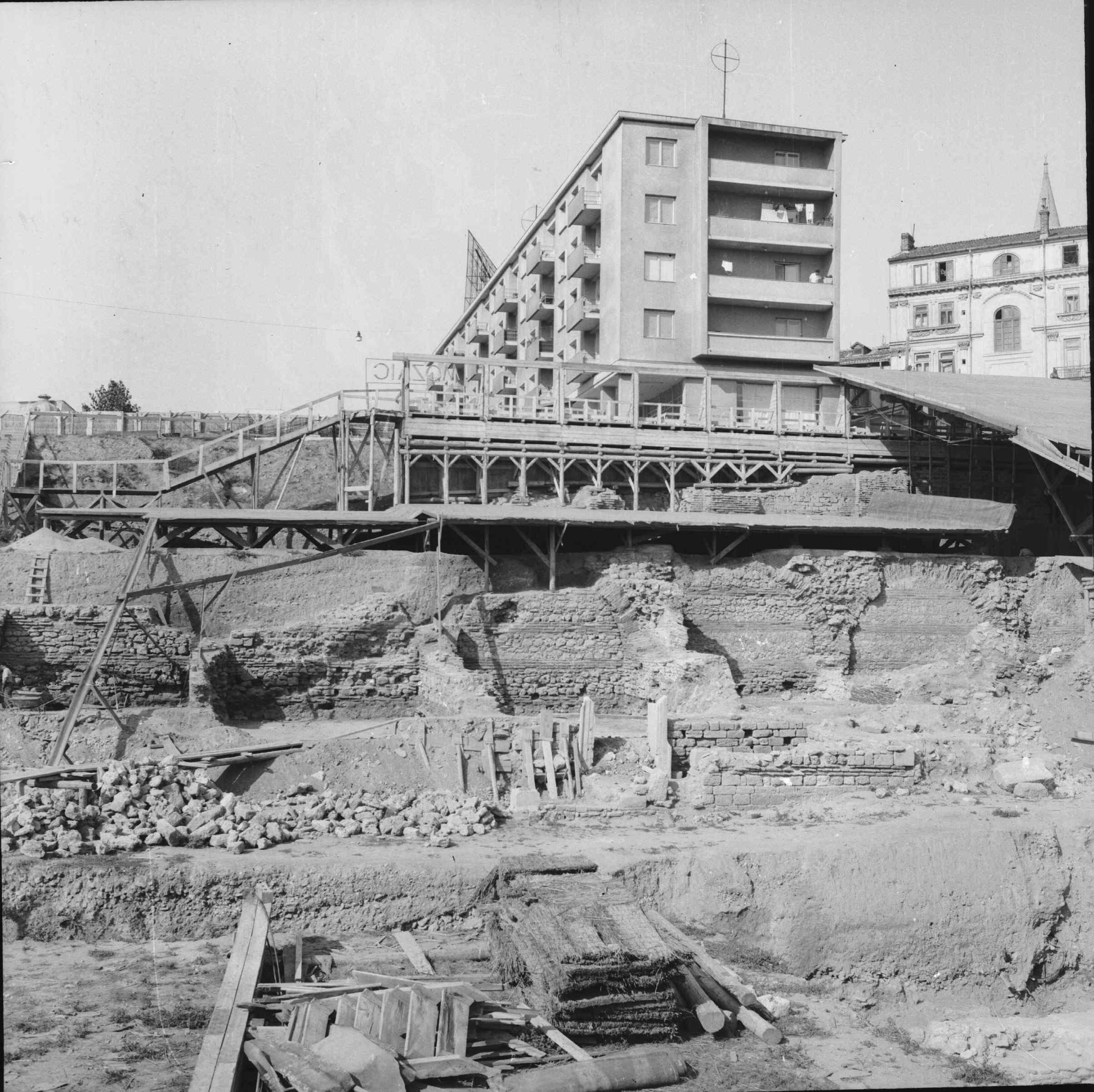 Cercetarea arheologica a Mozaicului Roman 1959 – 1960